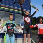 Julius Johansen vandt Gunnar Asmussens Æresløb foran Daniel Hartvig og Matias Greve. foto: Lone og Mogens Jørgensen