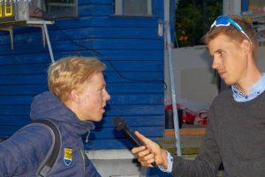 foto: mbaekdk Frederik Muff taler med Michael Valgren efter løbet