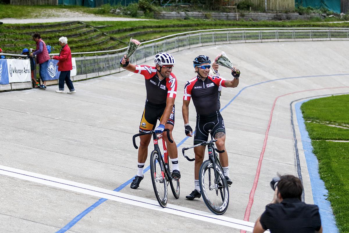 foto: Uggi Kaldan. Alex Rasmussen og Elias Helleskov Busk vinderne af parudskilningsløbet.