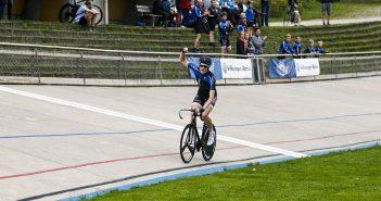 Aarhus' egen Johan Tiedemann Langballe blev dobbelt Dansk Mester på Aarhus Cyklebane i 2015. foto: Uggi Kaldan