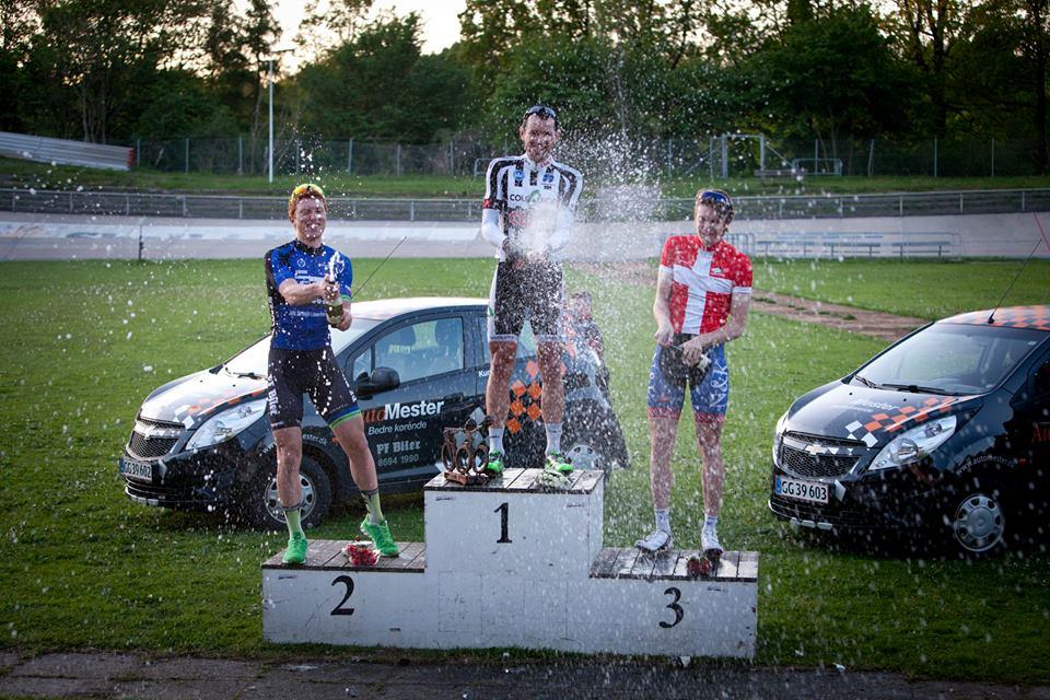 Nicklas O. Pedersen, Alex Rasmussen og Johan Tiedemann Langballe, dagens Top 3. Foto: Toke Hage.