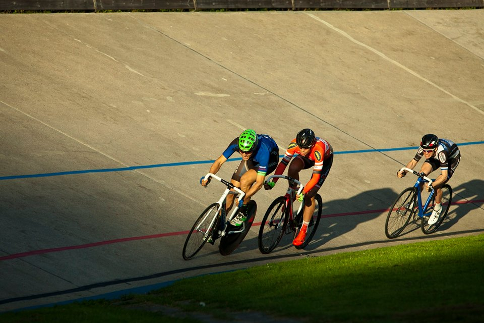 Jakob Frandsen, Anders Lilliendal og Jeppe Aaskov Pallesen, de tre bedste i sprinter Omnium, foto: Toke Hage.